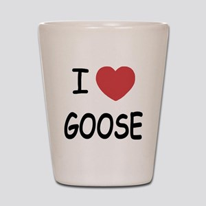 I heart goose Shot Glass