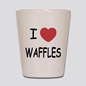I heart waffles Shot Glass