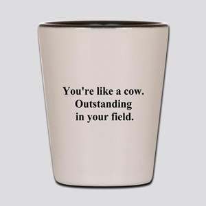 outstanding cow Shot Glass