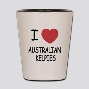 I heart australian kelpies Shot Glass