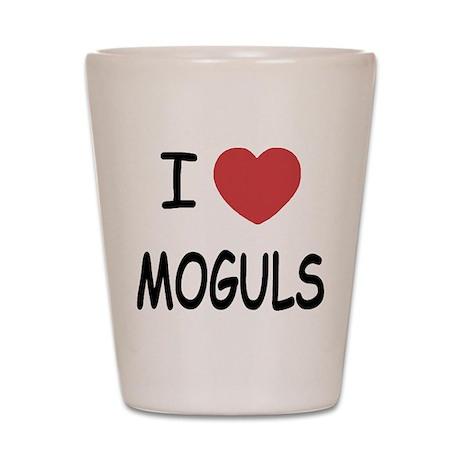 I heart moguls Shot Glass