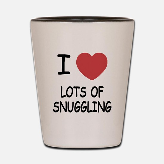 I heart lots of snuggling Shot Glass