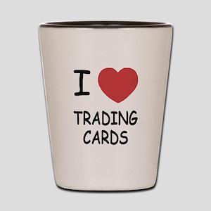 I heart trading cards Shot Glass