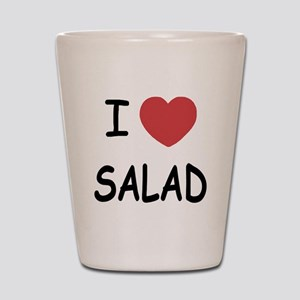 I heart salad Shot Glass