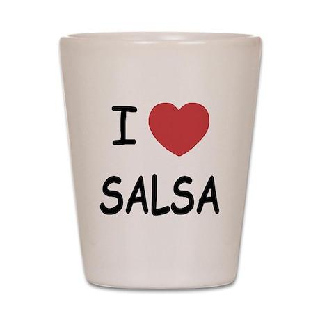 I heart salsa Shot Glass