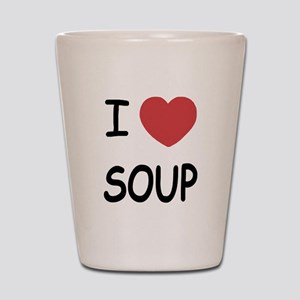 I heart soup Shot Glass