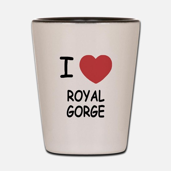 I heart royal gorge Shot Glass