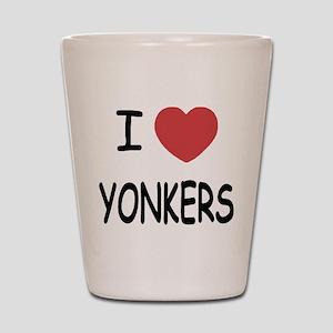 I heart yonkers Shot Glass