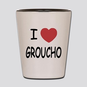 I heart groucho Shot Glass