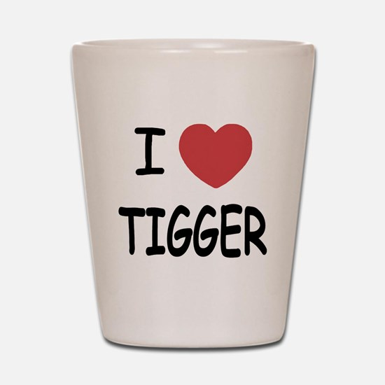 I heart tigger Shot Glass