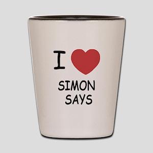 I heart simon says Shot Glass
