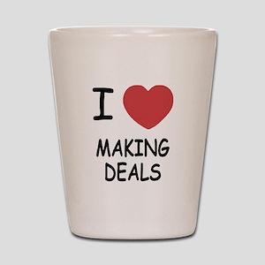 I heart making deals Shot Glass