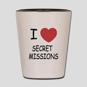 I heart secret missions Shot Glass