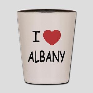 I heart albany Shot Glass