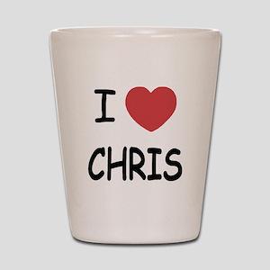 I heart chris Shot Glass