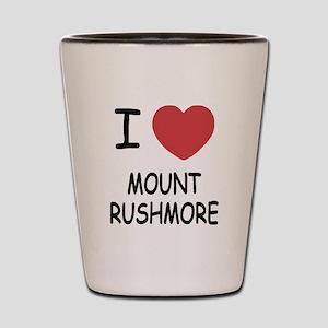 I heart mount rushmore Shot Glass