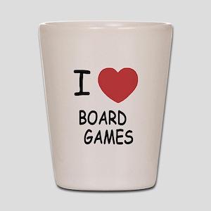 I heart board games Shot Glass