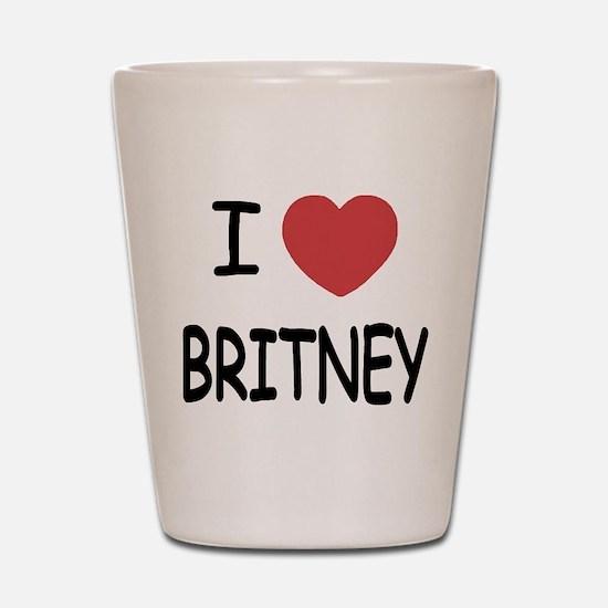 I heart Britney Shot Glass