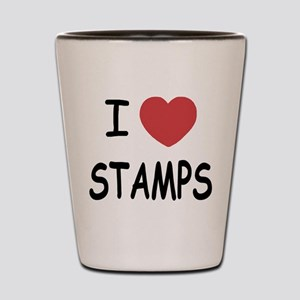 I heart stamps Shot Glass