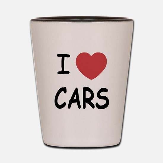 I love cars Shot Glass