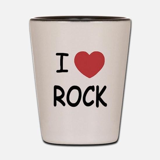 I heart rock Shot Glass