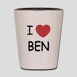 I heart Ben Shot Glass