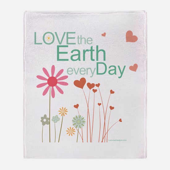 Love the Earth Throw Blanket