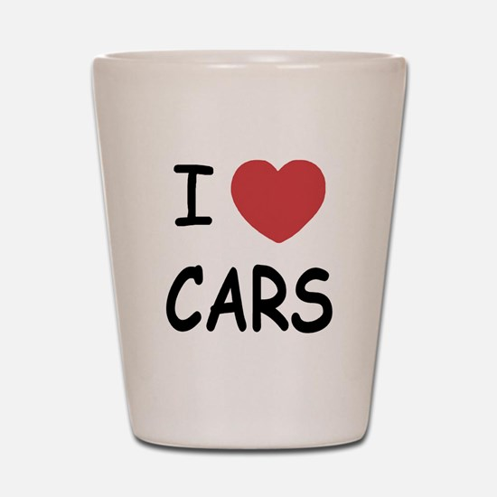 love cars Shot Glass