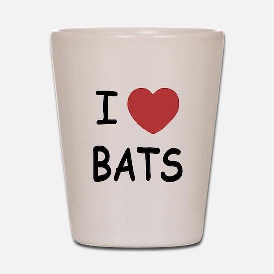 I heart bats Shot Glass