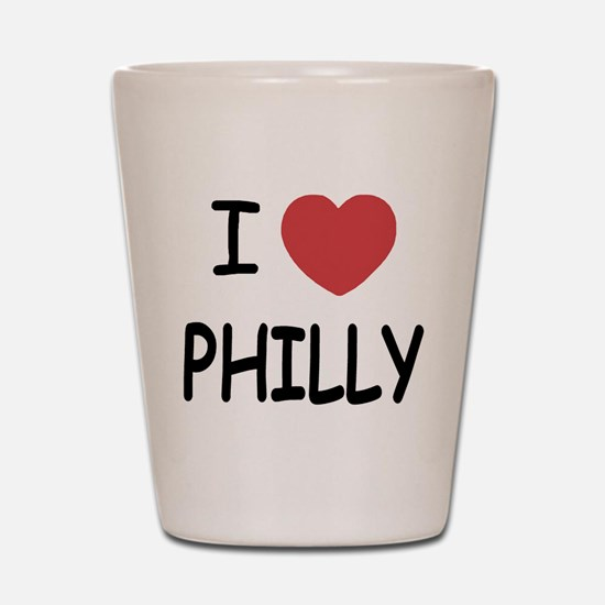 I heart Philly Shot Glass