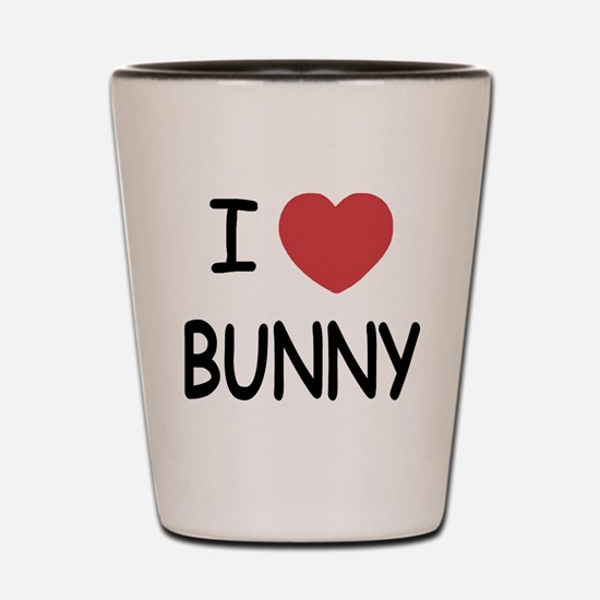 I heart bunny Shot Glass