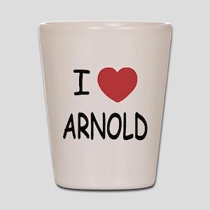 I heart Arnold Shot Glass