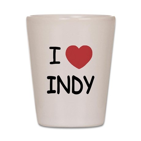 I heart Indy Shot Glass