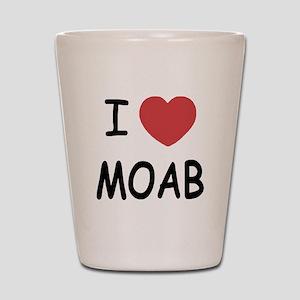 I heart Moab Shot Glass