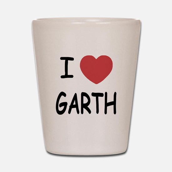 I heart Garth Shot Glass