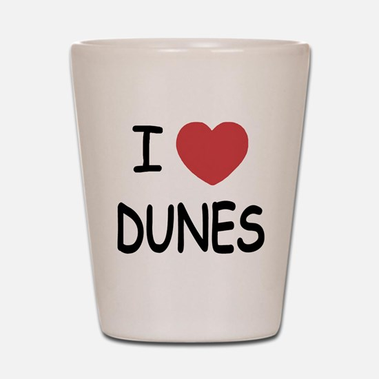 I heart dunes Shot Glass