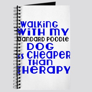 Walking With My Standard Poodle Dog Journal