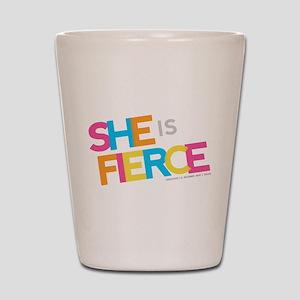 She is Fierce - Color Merge Shot Glass