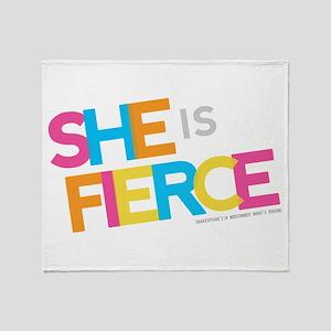 She is Fierce - Color Merge Throw Blanket