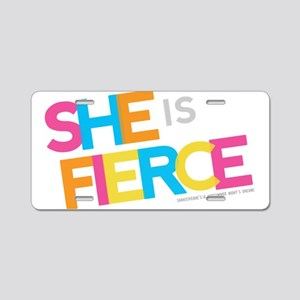 She is Fierce - Color Merge Aluminum License Plate