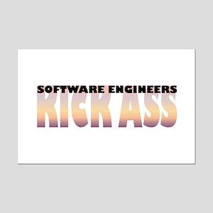 Software Engineers Kick Ass Mini Poster Print
