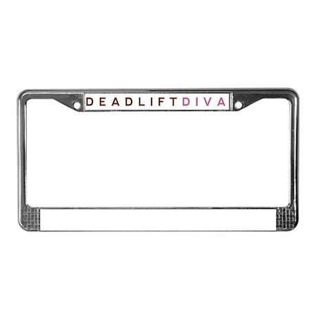 Deadlift Diva - Brown & Pink License Plate Frame