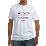 WINO Cooking With Wine... Fitted T-Shirt