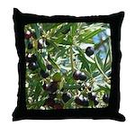Ripe Black California Olives Throw Pillow