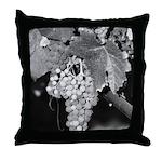 Black and White Grapes Throw Pillow