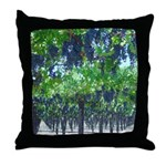 Ripe Grapes Hanging For Harvest Throw Pillow
