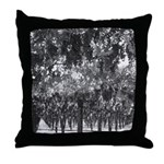 Black and White Grapes Hanging Throw Pillow