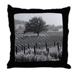 The Tree in The Vineyard Throw Pillow