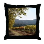 Turning Leaf, Autumn Vineyard Throw Pillow