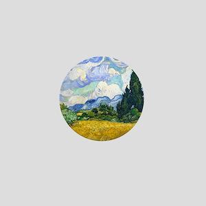 Van Gogh - Wheat Fields Mini Button